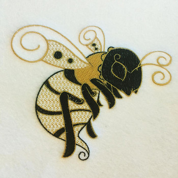 Ornamental Bumble Bee - Ornament Animal Collection #24 Machine Embroidery Design
