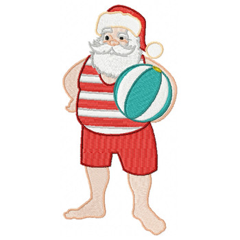 Santa On The Beach #04