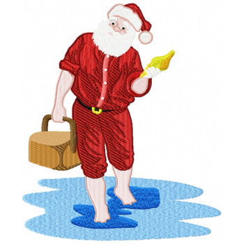 Santa On The Beach #08