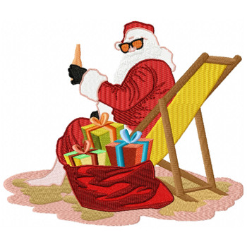 Santa On The Beach #10