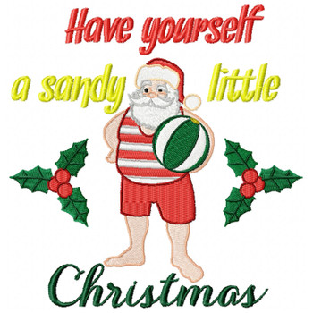 Santa On The Beach Typography #04