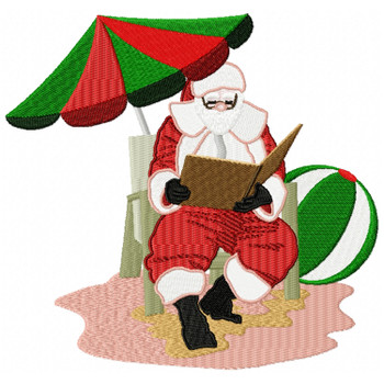 Santa On The Beach #12