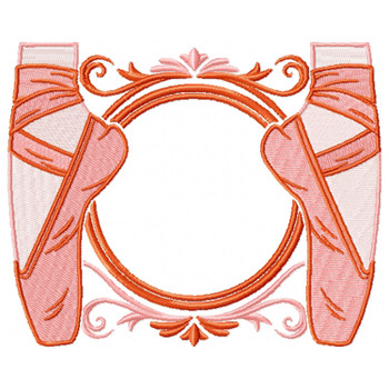 Ballet Shoes Monogram #01