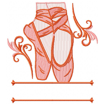 Ballet Shoes Monogram #02