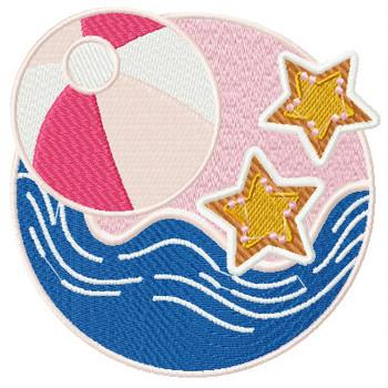 Beach Ball - Summer Beach Collection #05 Machine Embroidery Design