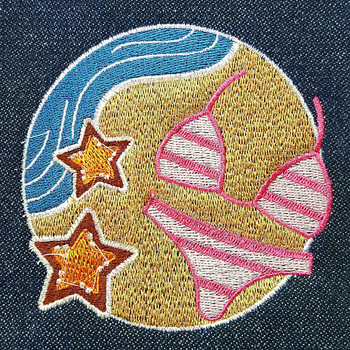 Bikini - Summer Beach Collection #07 Machine Embroidery Design