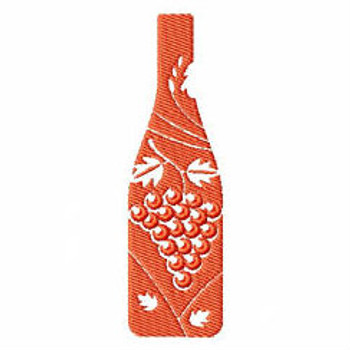 Grape Bottle - Wine Bag Design #10 Machine Embroidery Design