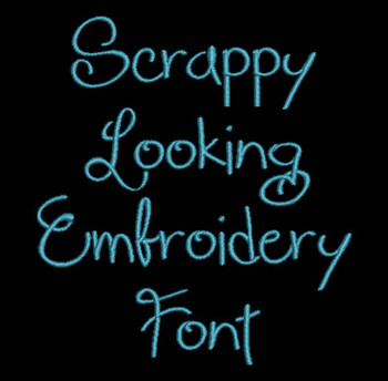 Curvy - Scrappy Looking Regular Machine Embroidery FontNow Includes BX Format!