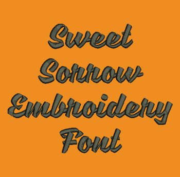 Bold Cursive - Sweet Sorrow Machine Embroidery Font Now Includes BX Format!