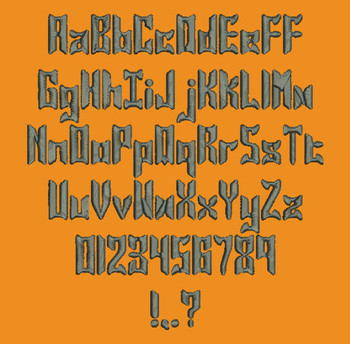 Super Chunky - Jasper Solid Machine Embroidery Font Now Includes BX Format!