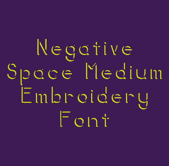 Shadow Work Font - Negative Space Machine Embroidery Font Now Includes BX Format!