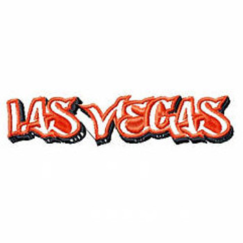 Las Vegas - Geography Graffiti Collection #02 Machine Embroidery Design