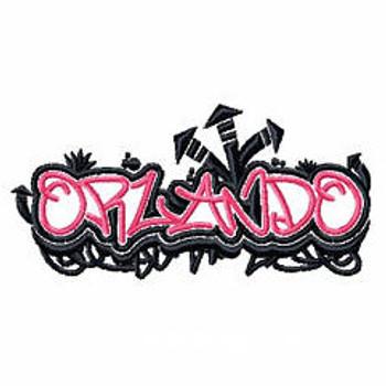 Orlando - Geography Graffiti Collection #07 Machine Embroidery Design