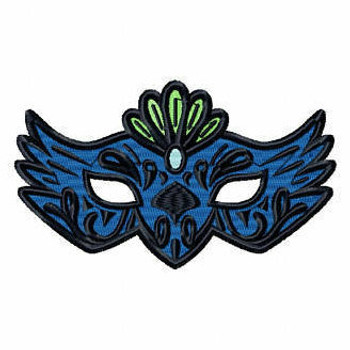 Feather Eyemask - Masquerade Design Collection #10 Machine Embroidery Design