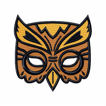 Owl EyeMask - Masquerade Design Collection #16 Machine Embroidery Design