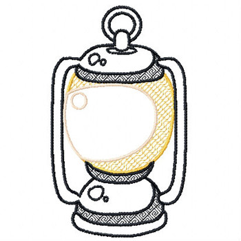 Camp Lantern - Camping #02 Machine Embroidery Design