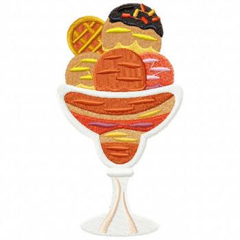 Ice Cream #06 Machine Embroidery Design