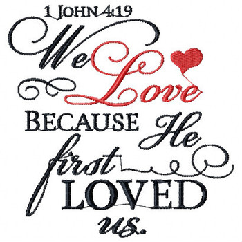 1 John 4.9 - Religious Typography Collection #01 Machine Embroidery Design