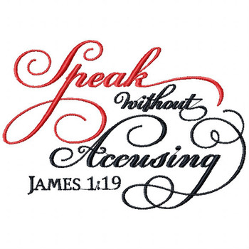 James 1.19 - Religious Typography Collection #05 Machine Embroidery Design