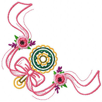 Cute Baby Napkin Corner #02 Machine Embroidery Design