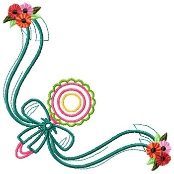 Cute Baby Napkin Corner #03 Machine Embroidery Design