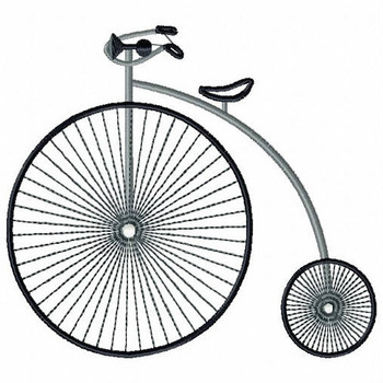 Vintage Penny farthing - Antique Collection #5 Machine Embroidery Design