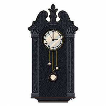 Vintage Grandfathers Clock - Antique Collection #8 Machine Embroidery Design