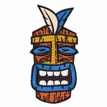 Luau Masks #05 Machine Embroidery Design