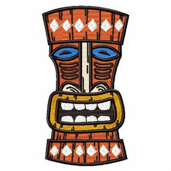Luau Masks #06 Machine Embroidery Design