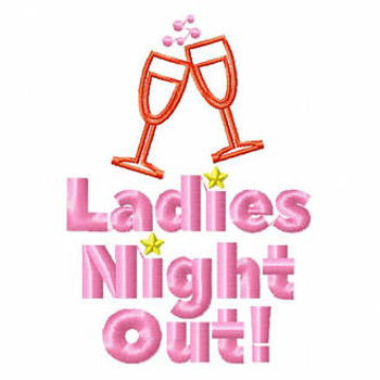Ladies Night Out - Girls Night Collection #03 Machine Embroidery Design