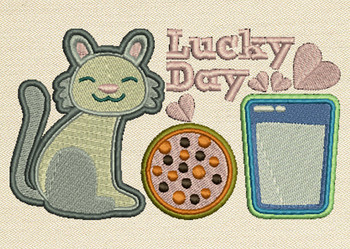 Lucky Day Mug Rug In The Hoop Machine Embroidery Design