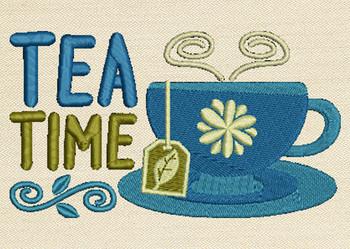 Tea Time Mug Rug In The Hoop Machine Embroidery Design