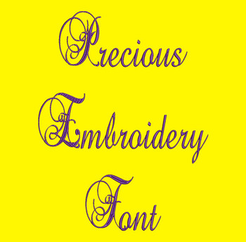 Exquisitely Elegant Font - Precious Machine Embroidery Font Now Includes BX Format!