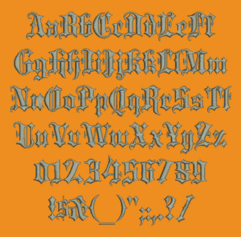 Black Letter Machine Embroidery Font Now Includes BX Format!
