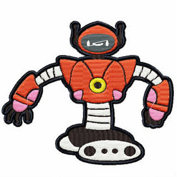 Dancing Cyborg - Robot Collection #01 Stitched and Applique Machine Embroidery Design