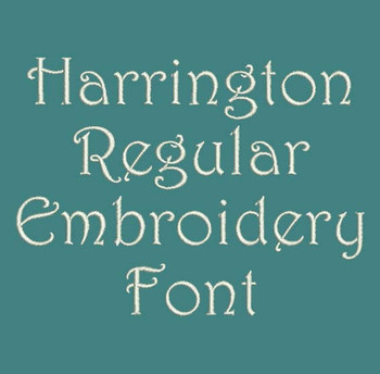 Swirly Classic Font - Harrington Regular Machine Embroidery Font  Now Includes BX Format!