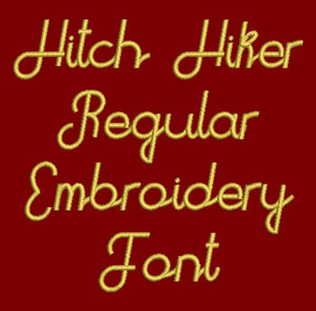 Galaxy Font - Hitch Hiker Machine Embroidery Font  Now Includes BX Format!