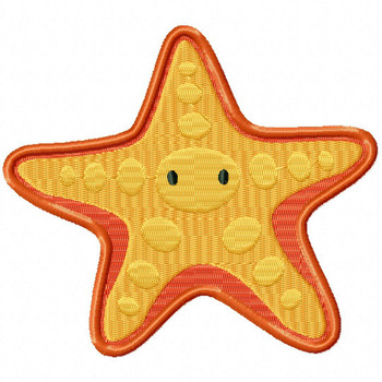 Starfish - Under The Sea Collection #09 Stitched and Applique Machine Embroidery Design