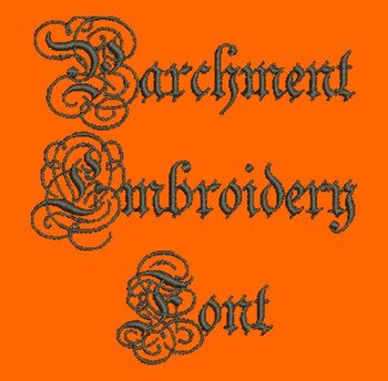 Beautifully Ornate Font - Parchment Machine Embroidery Font  Now Includes BX Format!