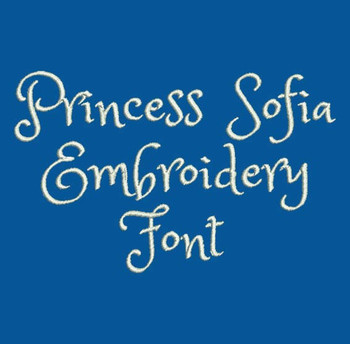 Little Princess - Princess Sofia Machine Embroidery Font Now Includes BX Format!