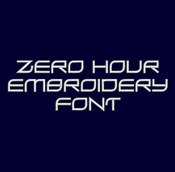 Impossible Spy Font - Zero Hour Machine Embroidery Font Now Includes BX Format!