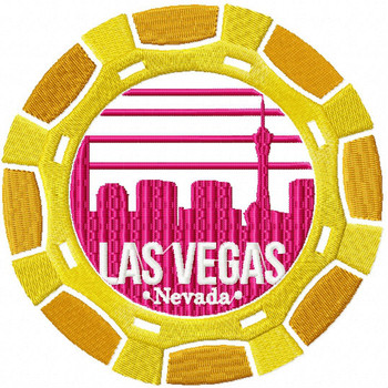 Las Vegas Casino Chip - City Collection #03 Machine Embroidery Design
