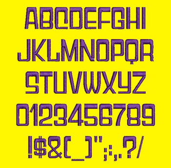 Gameshow Font - Gyparody Machine Embroidery Font Now Includes BX Format!