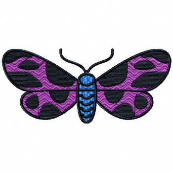 Cute Butterfly - Insect Collection #08 Stitched and Applique Machine Embroidery Design