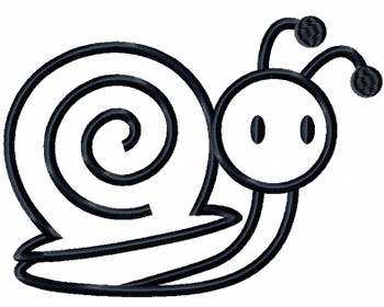 Baby Snail - Insect Collection #09 Stitched and Applique Machine Embroidery Design