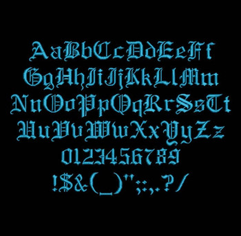 Old Gothic English - Albion Machine Embroidery Font Now Includes BX Format!