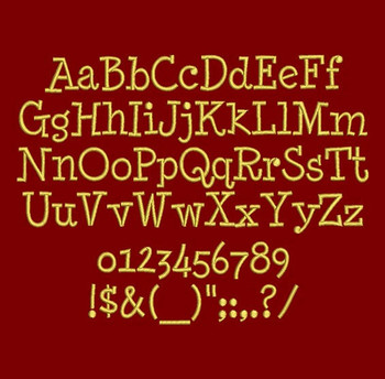 Minya Nouvelle Machine Embroidery Font Now Includes BX Format!