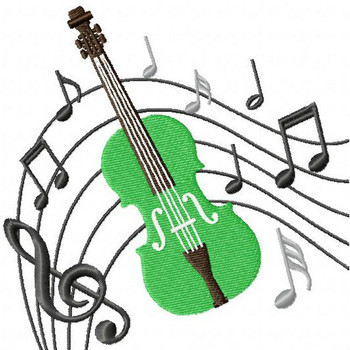 Violin - Musical Instrument Collection #04 Machine Embroidery Design