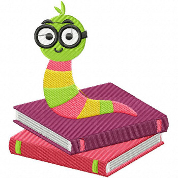 Decisions Worm - Bookworm #01 Machine Embroidery Design