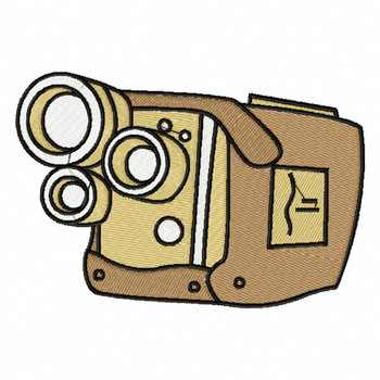 Triple Lens Camera - Photography #07 Machine Embroidery Design
